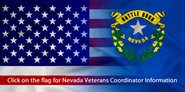 Nevada To Be Most Military Friendly State in the Nation: Click on the Flag for NV Veterans Coordinator Information
